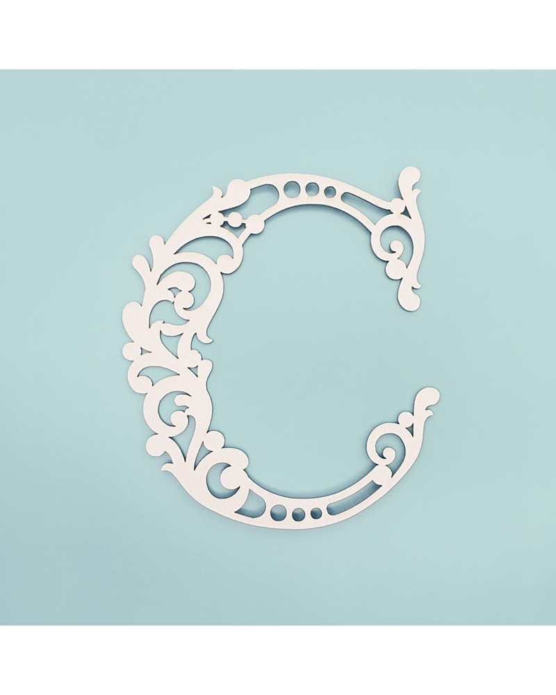Letra Cartón 001 Floral C