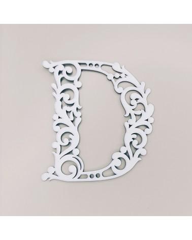 Cardboard Letter 001 Floral D