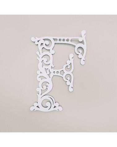 Cardboard Letter 001 Floral F