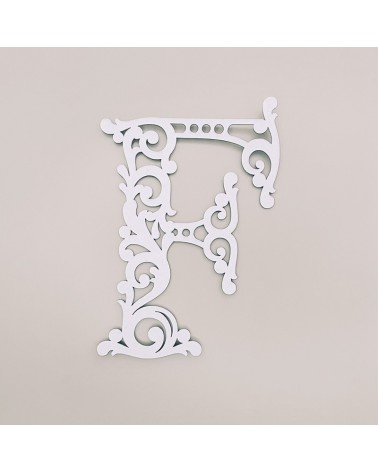 Letra Cartón 001 Floral F