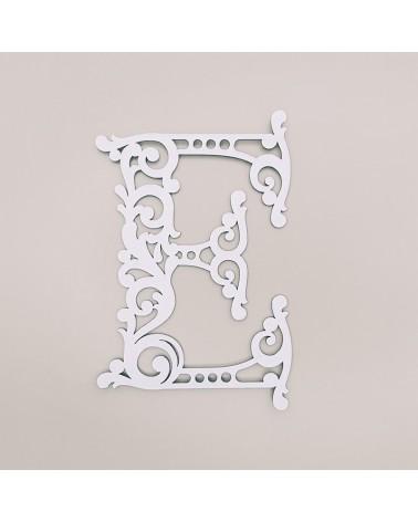 Letra Cartón 001 Floral E