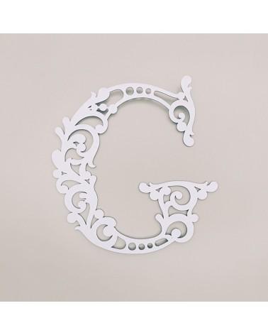 Letra Cartón 001 Floral G