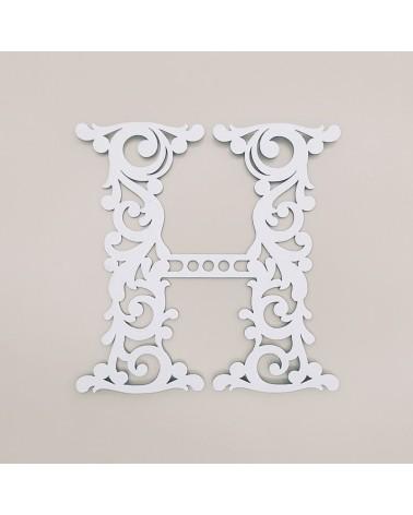 Letra Cartón 001 Floral H