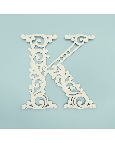 Letra Cartón 001 Floral K