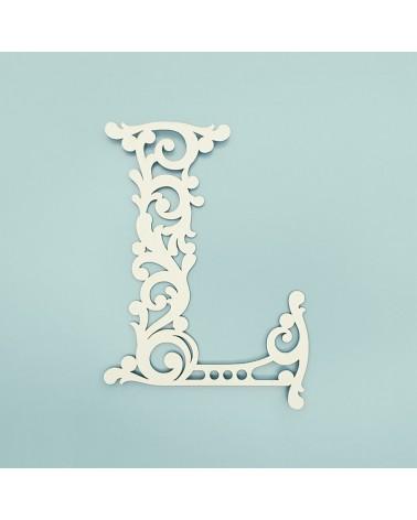 Cardboard Letter 001 Floral L