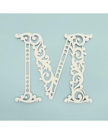 Cardboard Letter 001 Floral M