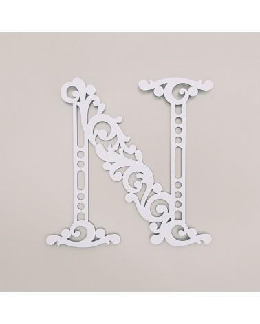 Cardboard Letter 001 Floral N