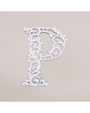 Cardboard Letter 001 Floral P