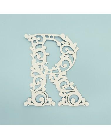 Cardboard Letter 001 Floral R