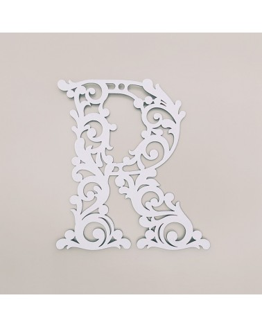 Letra Cartón 001 Floral R