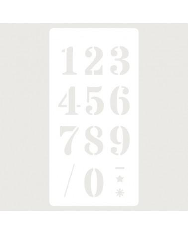 Stencil Deco Scrapbooking 114 Números