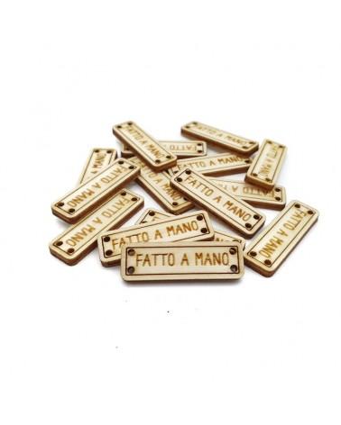 Set of Wood 031 Fatto a Mano 10 pcs
