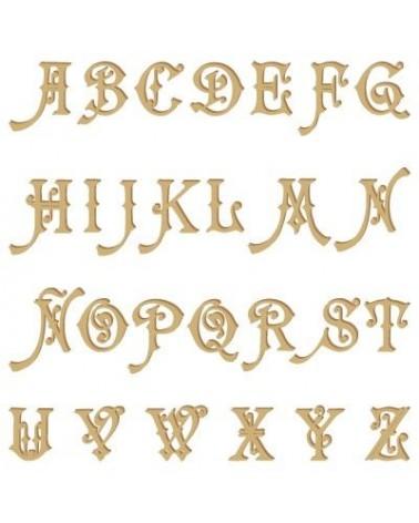 Silhouette Alphabet 004 Carmencita Uppercase 90mm