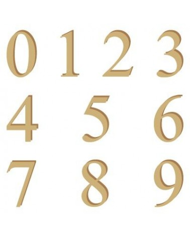 Silhouette Alphabet Numbers 001 Times 30mm