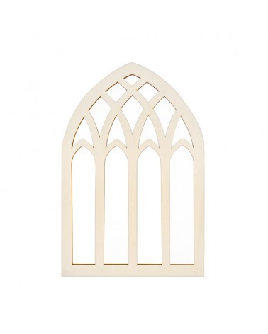 Wooden Plate 104 Church Window