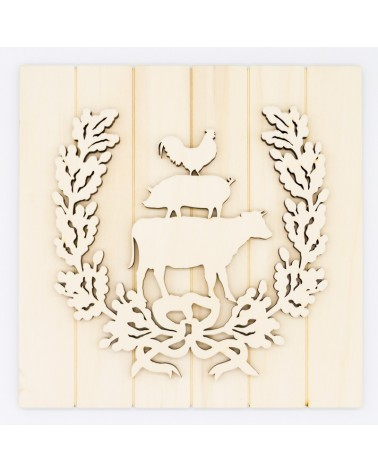 DIY Kit 029 Wreath Animals Farm Sign