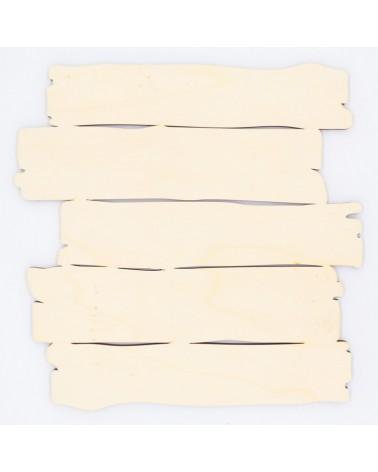 Wooden Plate 105 Slatted Board