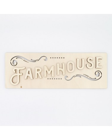 Wooden Plate 098 FarmHouse Sign