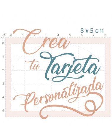 Crea Tu Tarjeta Personalizada Boda 9x6cm