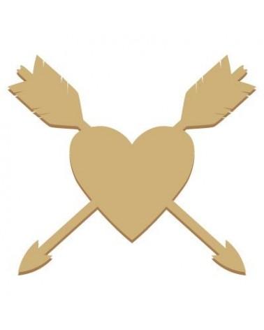 Silueta Figura 044 Flechas Corazón