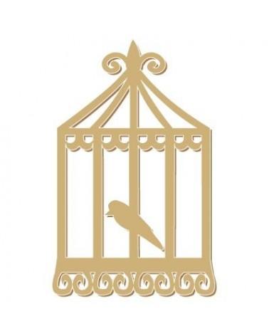 silueta figura 074 pajaro en jaula