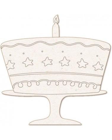 Silueta Figura 170 Tarta Cumpleaños