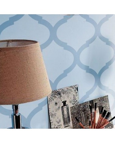 DIY Decor Wall Stencil Damask 017 Jebel