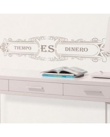 Wall Stencil Poster 002 Tiempo es Dinero
