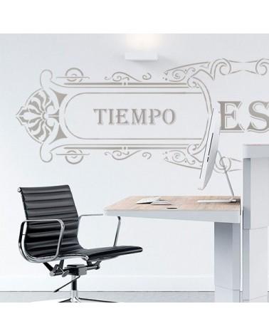 Stencil Pared Cartel 003 Tiempo es Dinero
