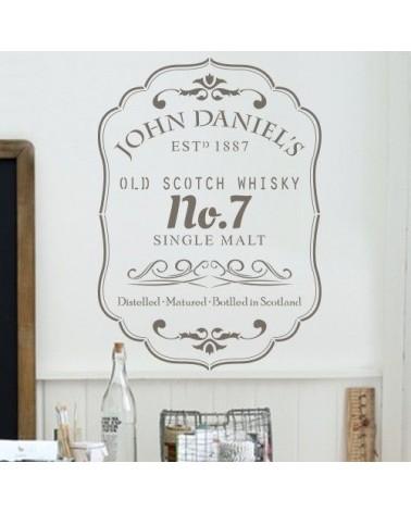 Stencil Pared Cartel 005 Whisky John Daniels
