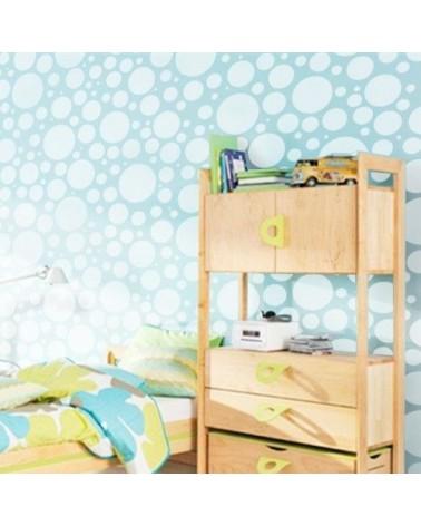 Wall Stencil Geometric 023 Bubbles