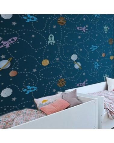 Wall Stencil Kids 002 Camino Cohetes