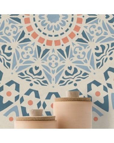 Stencil Pared Roseton 001 Mandala