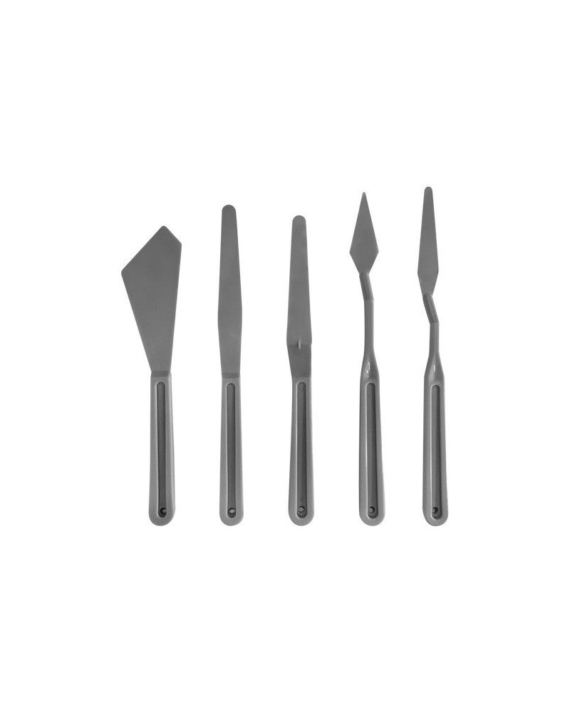 Plastic Spatula Kit for Artists 5pcs
