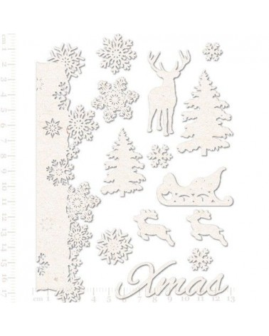 Set Siluetas Cartón 009 Navidad