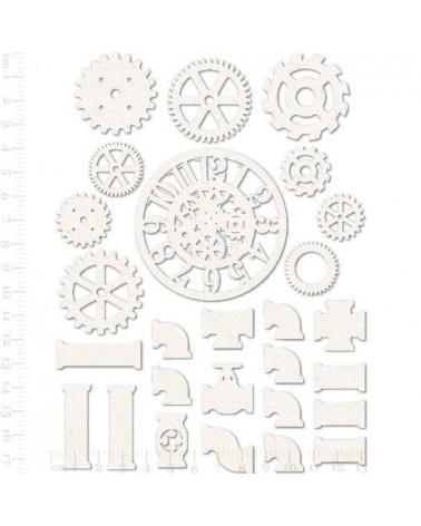 Set Siluetas Cartón 010 Engranajes