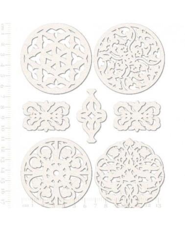 Set Siluetas Cartón 017 Arabescos