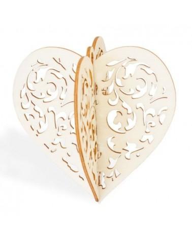Soporte 3D 020 Corazón Navidad