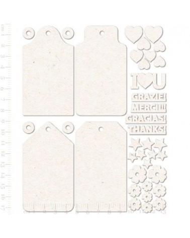 set siluetas carton etiquetas tags