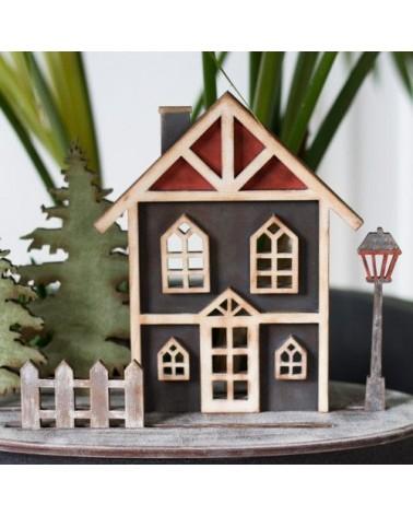 Soporte Madera 065 Casa Navidad