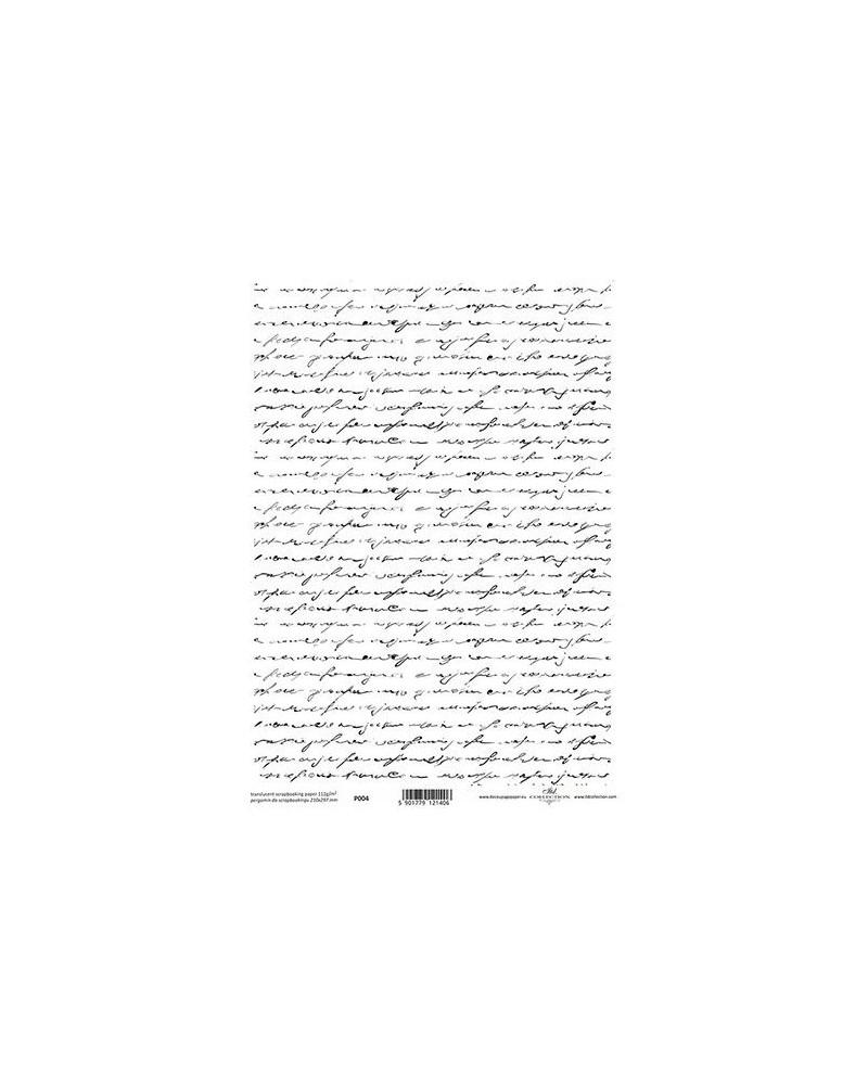 Papel Scrapbooking Traslúcido P004 A4