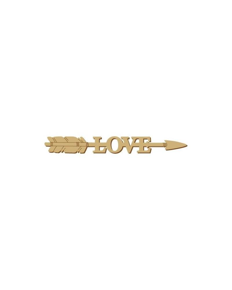 Wood Message 012 Arrow Love