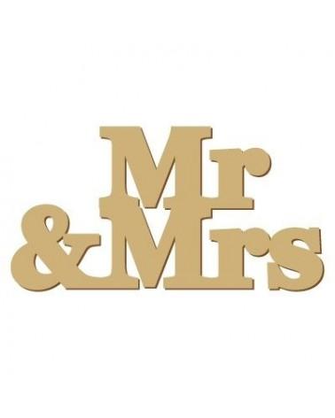 Soporte Cartel Madera 010 Mr & Mrs