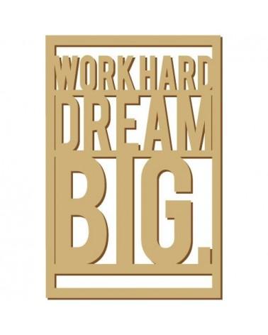 Soporte Cartel Madera 006 Work hard