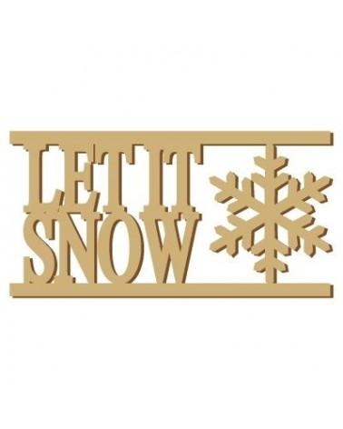 Soporte Cartel Madera 004 Let it snow