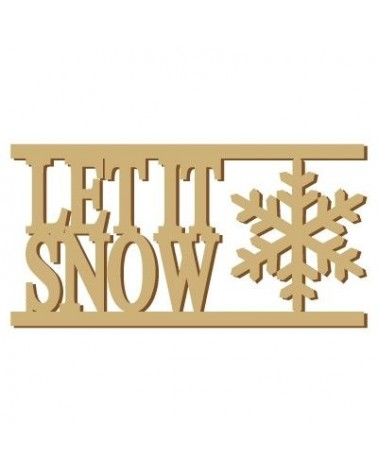 Soporte Cartel Madera 004 Let it snow
