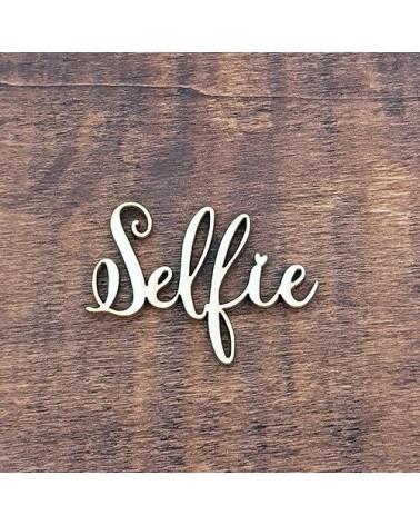 Silueta Texto 001 Selfie - Madera