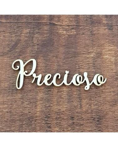 Silueta Texto 005 Precioso - Madera