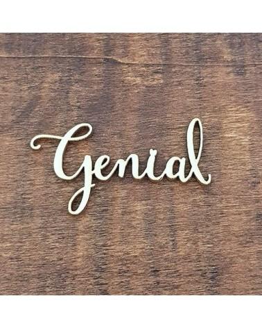 Silueta Texto 006 Genial - Madera