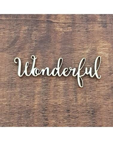 Silueta Texto 008 Wonderful - Madera